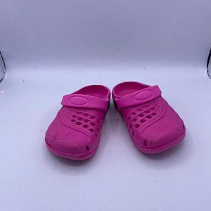 pink children's classic hole shoes